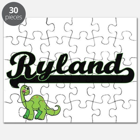 Ryland Classic Name Design with Dinosaur Puzzle