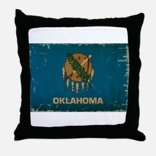 Oklahoma State Flag Throw Pillow