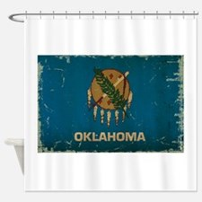 Oklahoma State Flag Shower Curtain