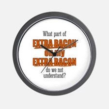 Extra Bacon Wall Clock