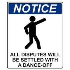 Notice Dance Off Poster