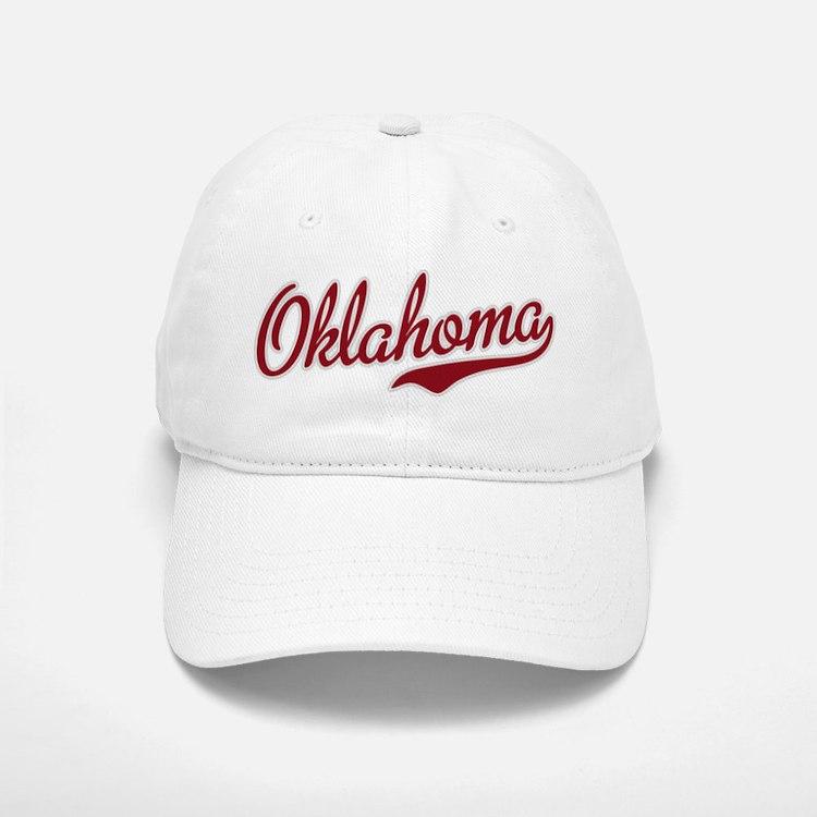 Oklahoma Script Font Garnet Baseball Baseball Baseball Cap