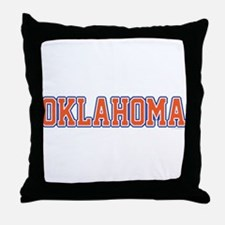 Oklahoma Jersey Font Throw Pillow