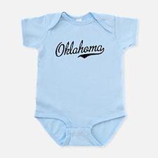 Oklahoma Script Font Garnet Body Suit
