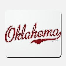 Oklahoma Script Font Garnet Mousepad