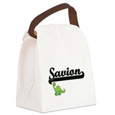 Savion Classic Name Design with D Canvas Lunch Bag