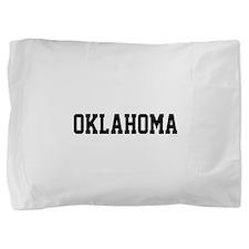 Oklahoma Jersey Font Pillow Sham