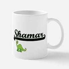 Shamar Classic Name Design with Dinosaur Mugs