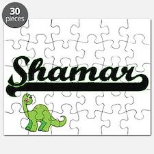 Shamar Classic Name Design with Dinosaur Puzzle