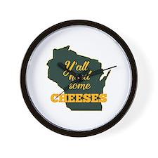 Need Cheeses Wall Clock