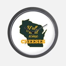Need Cheeses Wall Clock