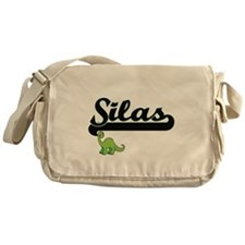 Silas Classic Name Design with Dinos Messenger Bag