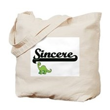 Sincere Classic Name Design with Dinosaur Tote Bag