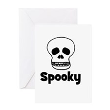 Spooky (skull) Greeting Card