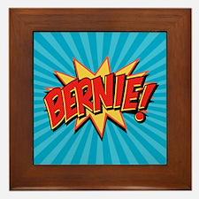 Comics Geeks 4 Bernie Framed Tile