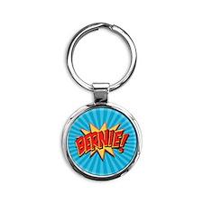 Comics Geeks 4 Bernie Round Keychain