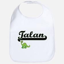 Talan Classic Name Design with Dinosaur Bib