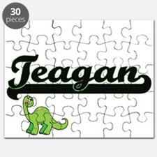 Teagan Classic Name Design with Dinosaur Puzzle