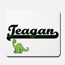 Teagan Classic Name Design with Dinosaur Mousepad