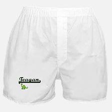 Teagan Classic Name Design with Dinos Boxer Shorts