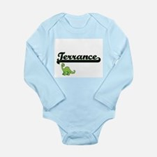 Terrance Classic Name Design with Dinosa Body Suit