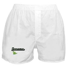Terrance Classic Name Design with Din Boxer Shorts