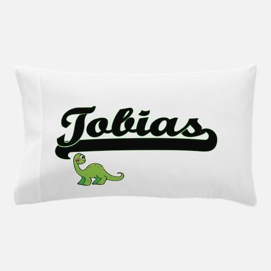 Tobias Classic Name Design with Dinosa Pillow Case