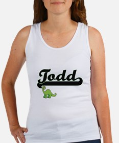 Todd Classic Name Design with Dinosaur Tank Top
