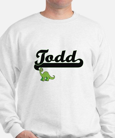 Todd Classic Name Design with Dinosaur Jumper