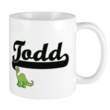 Todd Classic Name Design with Dinosaur Mugs