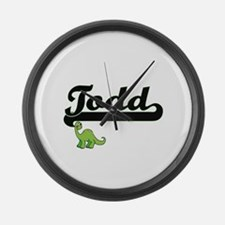 Todd Classic Name Design with Din Large Wall Clock