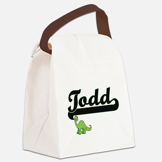 Todd Classic Name Design with Din Canvas Lunch Bag