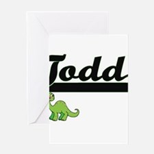 Todd Classic Name Design with Dinos Greeting Cards
