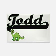 Todd Classic Name Design with Dinosaur Magnets