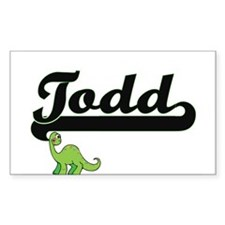 Todd Classic Name Design with Dinosaur Decal