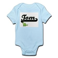 Tom Classic Name Design with Dinosaur Body Suit