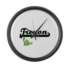 Trevon Classic Name Design with D Large Wall Clock