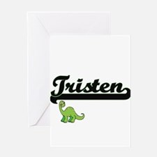 Tristen Classic Name Design with Di Greeting Cards
