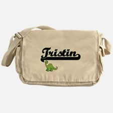 Tristin Classic Name Design with Din Messenger Bag