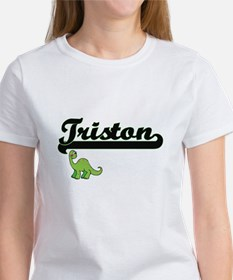 Triston Classic Name Design with Dinosaur T-Shirt