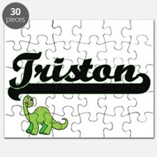 Triston Classic Name Design with Dinosaur Puzzle