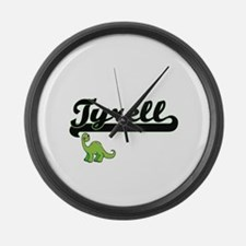 Tyrell Classic Name Design with D Large Wall Clock