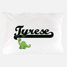 Tyrese Classic Name Design with Dinosa Pillow Case