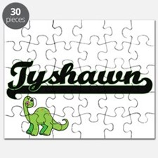 Tyshawn Classic Name Design with Dinosaur Puzzle