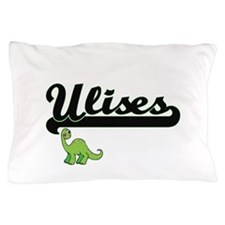 Ulises Classic Name Design with Dinosa Pillow Case