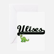 Ulises Classic Name Design with Din Greeting Cards