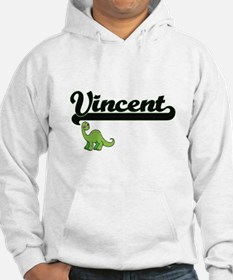 Vincent Classic Name Design with Hoodie