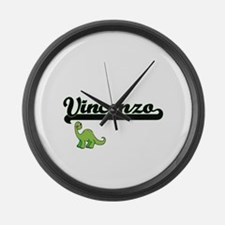 Vincenzo Classic Name Design with Large Wall Clock