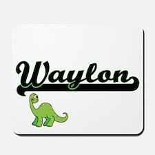 Waylon Classic Name Design with Dinosaur Mousepad