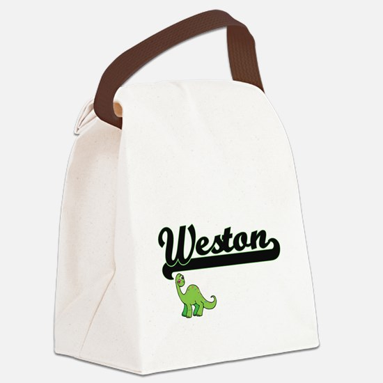 Weston Classic Name Design with D Canvas Lunch Bag